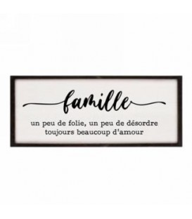 Frame-Famille un peu de folie... 19 x 9.5''