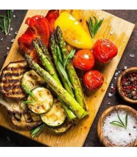 Serviette de table-légumes grillés 6.5 x 6.5''
