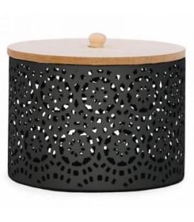 5 x 4 '' Black Metal Storage Jar