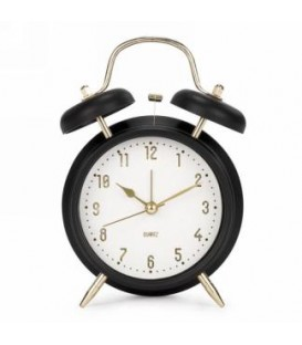 Alarm clock in black plastic 4.5 x 2 x 7.5 ''