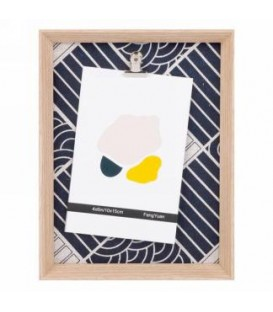 7x9 '' Navy Abstract Clip-on Photo Frame