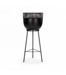 6 x 7 x 18 '' black metal pot and base