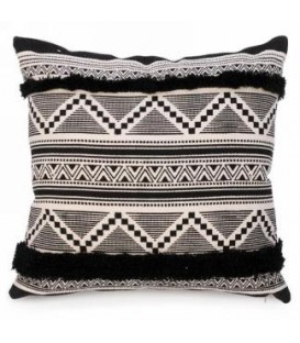 Black and natural color cushion 16 x 16 ''
