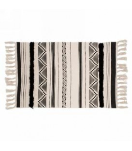 Black and natural color rug 40 x 24 ''