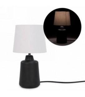 Lampe de table avec base noire 7''D x 13''