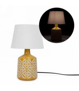 Lampe base vert- gris 10''D x 17''