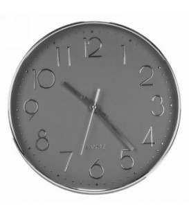 Modern 12''D Gray and Silver Clock