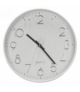Modern 12''D white clock