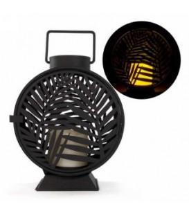 Lanterne feuillage noir 8 x 4 x 10''