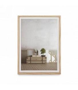 Cadre photo blanc et naturel 5 x 7''