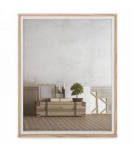 Cadre photo blanc et naturel 8 x 10''