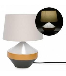 Lampe de table 16'' base jaune et grise