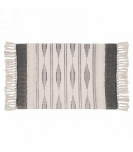 Gray and natural area rug 42 X 24 ''