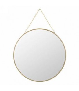 12D '' Gold Tower Hanging Mirror