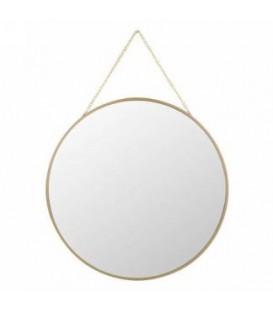Miroir à suspendre tour doré 12D''