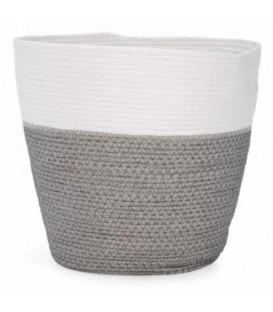 10 x 11 '' white and gray basket