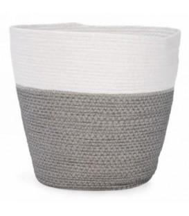 Panier blanc et gris 10 x 11''
