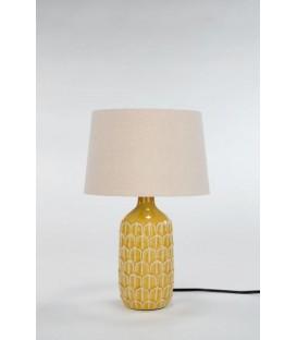 Lampe de table jaune à base texturée 10D'' x 17''