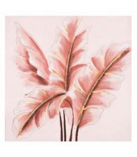 Toile canevas feuillage rose 20 x 20''