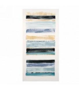 Toile canevas abstrait bleu 20 x 40''