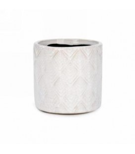 Ivory pot with diamond pattern