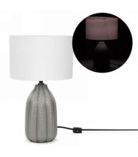 Lampe de table avec base grise 9.5 x 15''