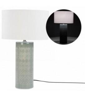 Lampe de table base grise 4.5 x 19''