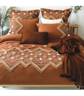 AZTEK terracotta duvet cover