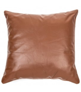 BOBBY brown faux leather cushion