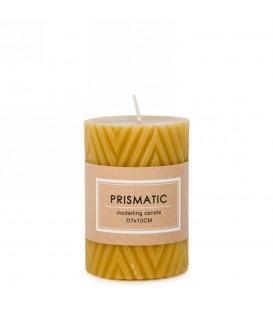 Mustard yellow candle 3 x 4 ''