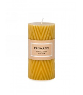 Mustard yellow candle 3 x 5 ''