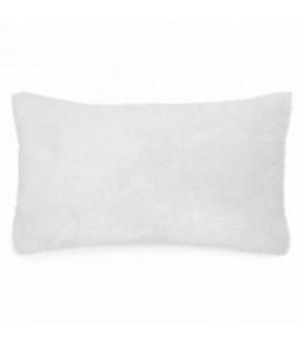 Coussin blanc doux au toucher 19 x 12''
