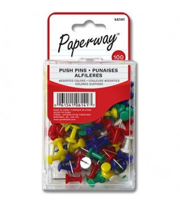 Color push pins pack of 100