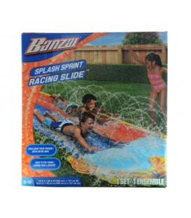 Course Sprint glissade d'eau