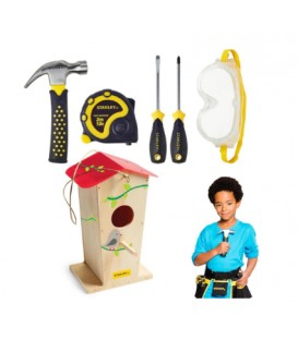 Tall Birdhouse and 5 pieces Tool kit