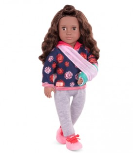 "Doll OG Deluxe - Keisha 18"" Doll with English book"
