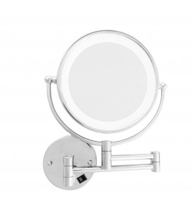 10X LED ADJUSTABLE WALL MOUNTED MIRROR-CHROME