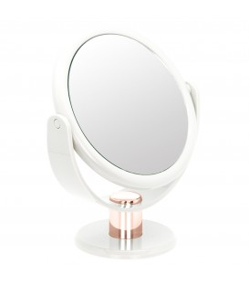 10X WHITE AND ROSE GOLD VANITY MIRROR