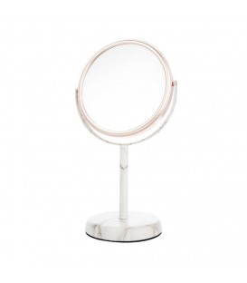 5X ROSE GOLD AND MARBLE VANITY MIRROR
