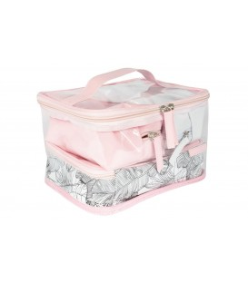 4 IN 1 BEAUTY BAG WITH FEATHERS