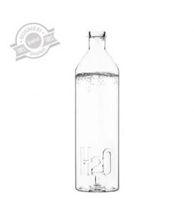 Bouteille d'eau en verre H2O