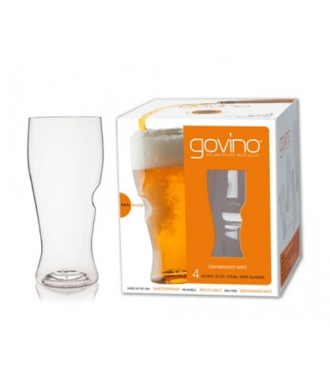 Set of 2 stemless in polymer beer glass GOVINO