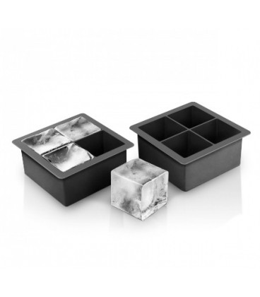 Kit of 2 squared ice cube tray 2po