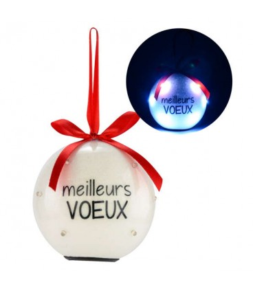 Boule lumineuse BEST WISHES