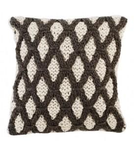 Coussin en tricot losanges