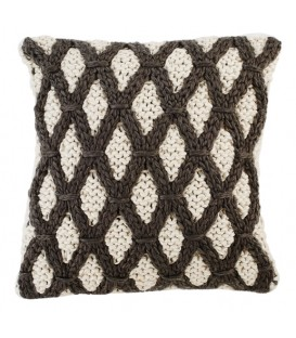 Diamond knitted cushion
