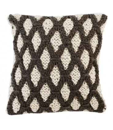 Diamond knitted cushion