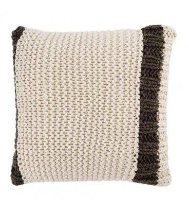 Coussin en tricot ligne