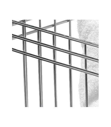 Panier carré en métal