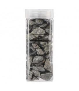 Big stones in jar -silver dark